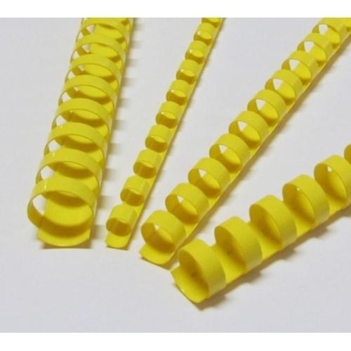 Plastové hřbety 10 žluté