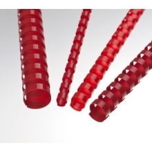 Plastové hřbety 14 červené