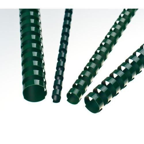 Plastové hřbety 16 zelené