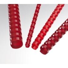 Plastové hřbety 25 červené