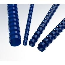 Plastové hřbety 28,5 modré ovál