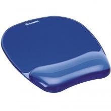 Podložka pod myš a zápěstí Fellowes CRYSTAL gelová modrá