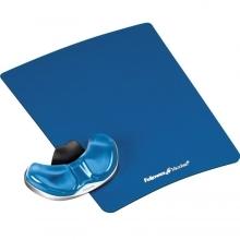 Podložka pod myš a zápěstí Fellowes Palm Health-V CRYSTAL gelová Microban modrá