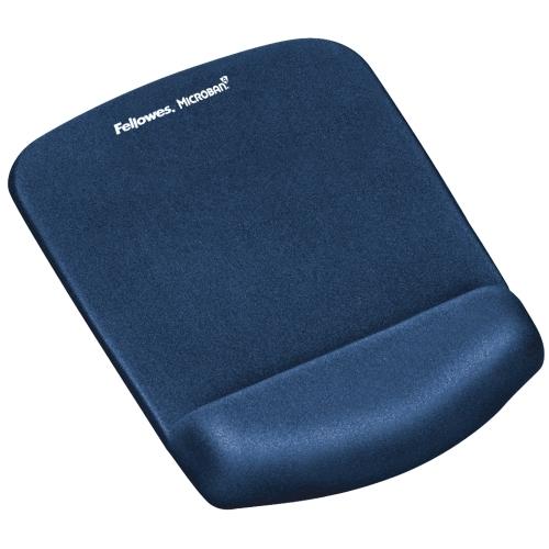 Podložka pod myš a zápěstí Fellowes PlushTouch modrá