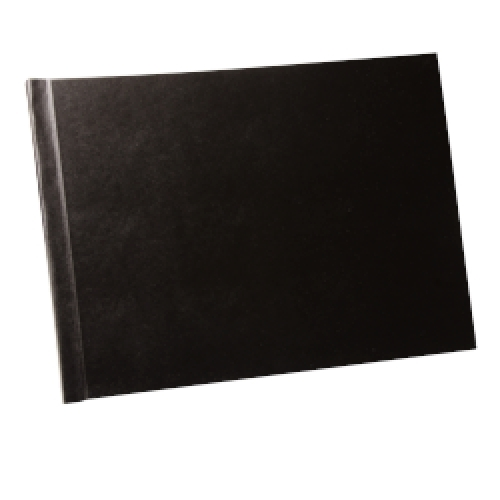 Tvrdé desky pro šitou vazbu s předsádkou A4 landscape černá