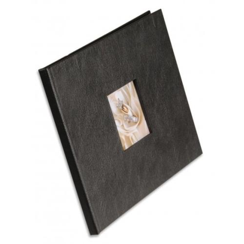 Tvrdé desky pro šitou vazbu s předsádkou A4 landscape Premium černá